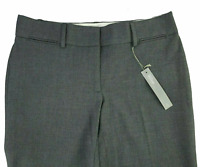 Ann Taylor Loft Marisa Dress Pants 6P Grey Straight Through Hip Career Trouser