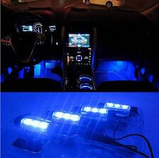 4 x 3 LED Neon Eclairage Lampe Lumière Bleu DC 12V Pour Décoration Voiture IDXX