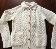 New UNIQLO Women Ines de la Fressange Cable Cardigan Sz. XS, Off White 100% Wool