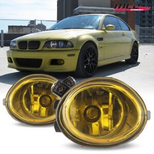 For 01-05 BMW 3 Series E46 PAIR OE Factory Fit Fog Light Bumper Yellow Lens