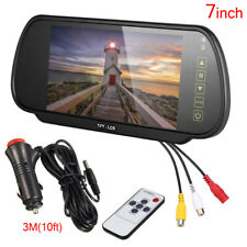 "7"" LCD Mirror Screen Monitor For Car Rear View Backup Camera Reverse Parking"