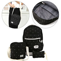 3Pcs Set Women Bag Backpack School Shoulder Bag Rucksack Canvas Travel Bags