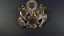"""Lapel pin NEW Badge US Army Officer Gold Plated 1-3/4"""" GREAT DETAIL"""