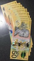🌟1x Rare AE Prefix Unc Australia New $50 Fifty Dollar 2018 Special Notes 💫 💥