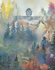 PRINT - The Iron Giant in Forest Watercolor Original Wall Art Kids Room Painting