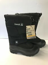 Women's Kamik Greenbay4 Black Insulated -40° Rated Winter Boots Size 6 NK2199S