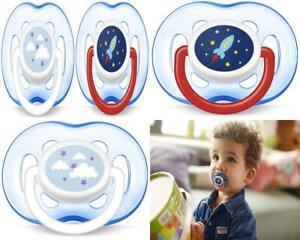 Philips AVENT Orthodontic Pacifier, 18 Plus Months, Blue Rocket and Cloud