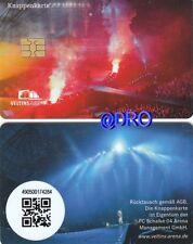 Knappenkarte + FC Schalke 04 + AC/DC + 12.07.2015 + Hülle + 5.-€ Guthaben + RAR
