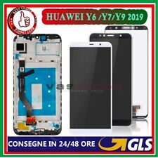 DISPLAY PER HUAWEI Y7 2019 Y9 2019 Y6 2018/HONOR 7A LCD TOUCH SCREEN VETRO FRAME