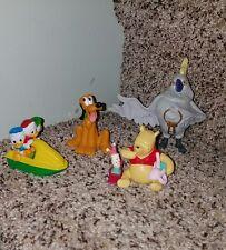 Lot DISNEY MOVIE CHARACTER Figures Pluto, Pooh Bear,  Huey Duey Louey etc