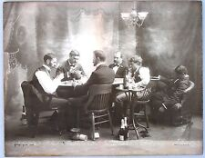Giant Antique Poker Game Photo: A Night at the Club.  1895, H. S. Klein