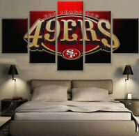 San Francisco 49ers Nation 5 pcs Painting Printed Canvas Wall Art Home Decor