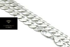 NEW 12MM  SOLID Sterling Silver 925 HEAVY Diamond Cut Curb Chain Necklace