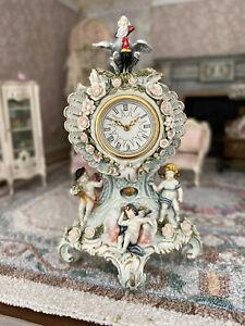 ROBERT OLSZEWSKI Dollhouse 1993 French Clock Angels Cherubs RARE Father Time