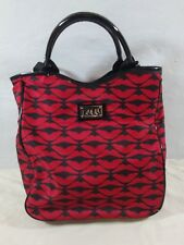 Lulu Guinness Lips shoulder bag Tote Purse kisses black red shoulder / tote