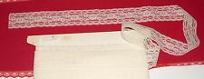 "NEW:BEIGE LACE TRiM 1-3/4"" WiDE~3 YDS~DIY Wedding Crafts Sewing lingerie, doll"