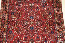 Antique Sarouk estate Rug Fine Weave 4.2x6.7 Extra Nice no.2