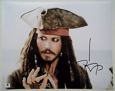 Johnny Depp Signed Large 11x14 Pirates of the Caribbean Jack Sparrow Photo Gai