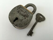 Lock Vintage Rare Iron Brass Lock and Key Collectible Aligarh 6 lever House king