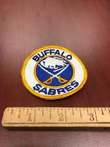 """VTG NHL Hockey Buffalo Sabres Jersey Patch Sleeve 3"""" Small New Old Stock White"""