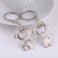 Music Boy Girl Charm Keychains Keyring Lovers Gift Bottle Opener Ring