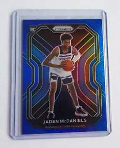 2020-2021 Panini Prizm Basketball Jaden McDaniels Rookie BLUE Prizm 047/199