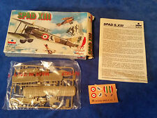 ESCI 1:72 scale Spad XIII Plane #9018 Made in Italy Model open But Complete