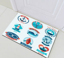 Nautical Element Rome Floor Carpet Home Area Rugs Non-skid Kitchen Door Bath Mat