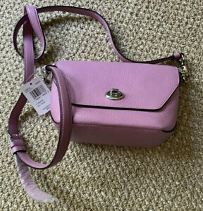 NWT Coach Lavender Cross-body Pebble Leather Bag