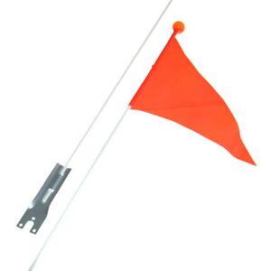 1 Kinderfahrrad Sicherheitswimpel Fahne Wimpel Fähnchen Orange Wackelfahne NEU