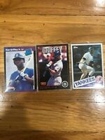 Ken Griffey lot includes rookie +Extras