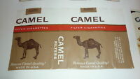 OLD VINTAGE CIGARETTE PACKET LABEL, CAMEL BRAND WINSTOM SALEM USA 2