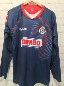 Reebok Club Deportivo Guadalajara Bimbo Soccer Jersey Men's Large,     A58