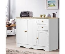 Kitchen Storage Shelving Side Buffet 3-Doors 2 Drawers Floor Cabinet Cupboard