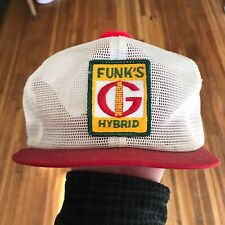 Vtg Funks G Hybrid Farm Patch Trucker Hat Seed Corn K Products