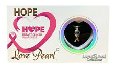 """Hope Breast Cancer Awareness Love Pearl Creation Necklace Kit with 16"""" Chain"""