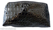 BLACK CROCODILE PATTERN TOILETRIES BAG / WASH BAG / COMETIC BAG IDEAL FOR MEN