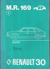 RENAULT 30 r1273 ORIGINALE Carrozzeria Officina Manuale in inglese 1975 MR 169