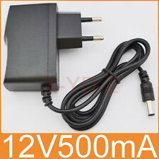 AC 100V-240V Adapter DC 12V 500mA Switching power supply 0.5A EU 5.5mm x 2.1mm