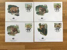 BELIZE 1983 FDC WWF x 4 BIG CATS JAGUAR