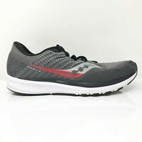 Saucony Mens Ride 13 S20579-30 Gray Black Running Shoes Lace Up Size 10