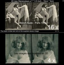 20 Akt - Stereofotos klassik Nude, Paris 1910, Lot 4, Stereoviews France