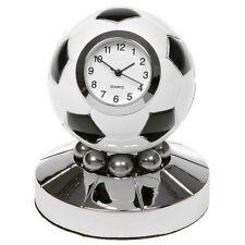 Football Soccor Ball Silver Colour Metal Miniature Clock Sports Novelty 0115