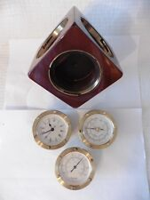 RARE Barigo German Spinning Cube Clock Barometer Thermometer Weather Station