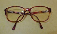 Vintage Christian Dior Orange & Brown Oval Eye Glasses 2719 30 55 16
