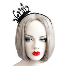 Headband Gothic Halloween Tiara Felt Ghost Hand Lace Costume Ball Party Hairband