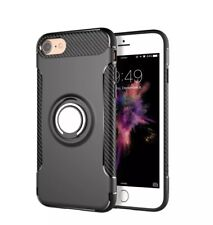 Black Free car Mount  New iPhone7 8 360°shockproof Case cover + Glass protector