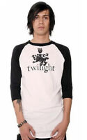 TWILIGHT Couture Collectible Men's Raglan T-Shirt Sz.M White Black New