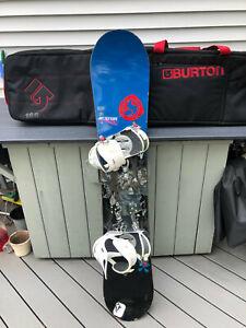RARE SHAUN WHITE BURTON 155 Darko Snowboard With Burton Snowboard Bag VGC