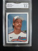 1989 Topps Randy Johnson #647 Rookie Montreal Expos GMA NM-MT+ 8.5